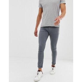 エイソス ASOS DESIGN メンズ ボトムス・パンツ ジーンズ・デニム【super skinny jeans in grey】Grey