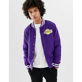 ニューエラ New Era メンズ アウター ジャケット【NBA L.A Lakers Jacket In Purple】Purple