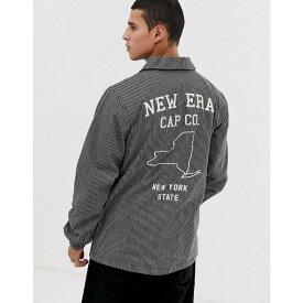ニューエラ New Era メンズ アウター ジャケット【pinstripe coach jacket with embroidered back logo in navy】Navy