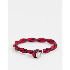 トミー ヒルフィガー Tommy Hilfiger メンズ ジュエリー・アクセサリー ブレスレット【woven bracelet in red & navy】Red