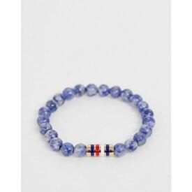 トミー ヒルフィガー Tommy Hilfiger メンズ ジュエリー・アクセサリー ブレスレット【Tommy Hilifger Sodalite beaded bracelet】Blue