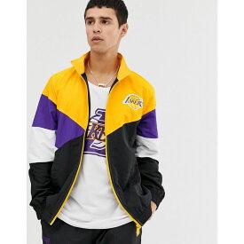 ニューエラ New Era メンズ アウター ジャージ【NBA LA Lakers retro colour block track jacket in black】Black