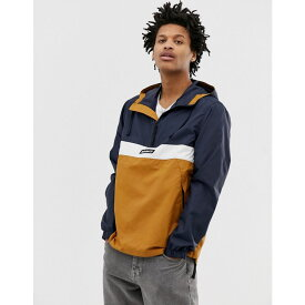ティンバーランド Timberland メンズ アウター ジャケット【pullover jacket in colourblock navy/white/gold】Dark sapphire