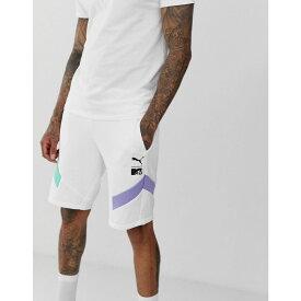 プーマ Puma メンズ ボトムス・パンツ ショートパンツ【x MTV colour block shorts in white】White