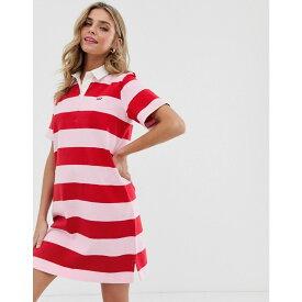 リーバイス Levi's レディース ワンピース・ドレス ワンピース【striped rugby dress】Pink lady