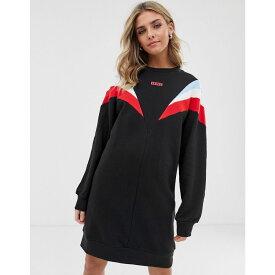 リーバイス Levi's レディース ワンピース・ドレス ワンピース【retro sweatshirt dress with colour block panel】Meteorite