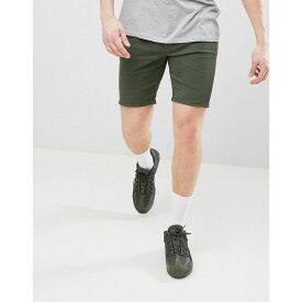 エイソス メンズ ボトムス・パンツ ショートパンツ【DESIGN Denim Shorts In Skinny Green】Green
