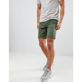 エイソス メンズ ボトムス・パンツ ショートパンツ【DESIGN Denim Shorts In Slim Green】Green