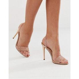 スティーブ マデン Steve Madden レディース シューズ・靴 サンダル・ミュール【Exclusive Fierce rhinestone slingback heeled sandals】Pink