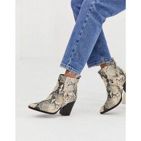 スティーブ マデン Steve Madden レディース シューズ・靴 ブーツ【Uno Snake Western Heeled Boot】Synthetic multi