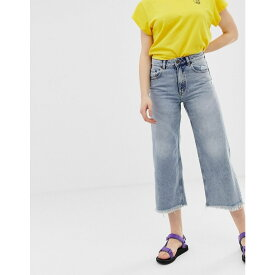 チープマンデー Cheap Monday レディース ボトムス・パンツ ジーンズ・デニム【organic cotton high rise wide leg jeans with raw hem】Hex blue