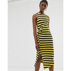チープマンデー Cheap Monday レディース ワンピース・ドレス ワンピース【organic cotton stripe tank dress】Black stripe