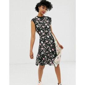 チープマンデー Cheap Monday レディース ワンピース・ドレス ワンピース【organic cotton roses are dread mixed print dress】Off black