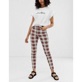 チープマンデー Cheap Monday レディース ボトムス・パンツ ジーンズ・デニム【organic cotton high waisted skinny jeans in check】Relax check
