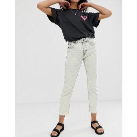 チープマンデー Cheap Monday レディース ボトムス・パンツ ジーンズ・デニム【organic cotton Revive rigid slim jeans with raw hem】Avrge white