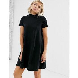 チープマンデー Cheap Monday レディース ワンピース・ドレス ワンピース【organic cotton a line t-shirt dress】Black