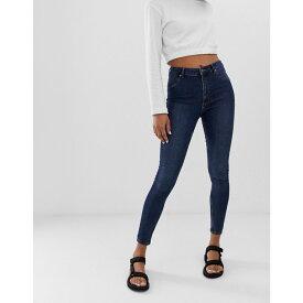 チープマンデー Cheap Monday レディース ボトムス・パンツ ジーンズ・デニム【spray on high waist organic cotton skinny jeans】Dim blue