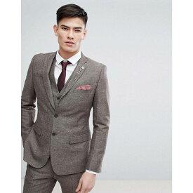 フレンチコネクション メンズ アウター スーツ・ジャケット【French Connection Semi Plain Donegal Slim Fit Suit Jacket】Tan