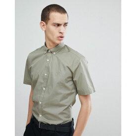 フレンチコネクション メンズ トップス 半袖シャツ【Poplin Short Sleeve Shirt】Lgt khaki