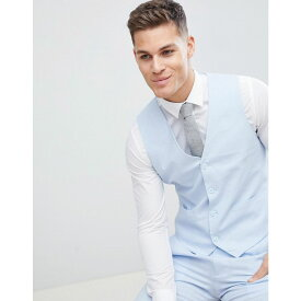 フレンチコネクション メンズ トップス ベスト・ジレ【Wedding Linen Slim Fit Waistcoat】Blue