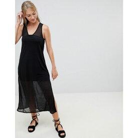 フレンチコネクション French Connection レディース ワンピース・ドレス ワンピース【Celia Midi Dress with Sheer Layers】Black