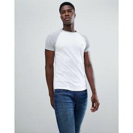 フレンチコネクション French Connection メンズ トップス Tシャツ【Contrast Sleeve Raglan T-Shirt】White/grey marl