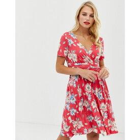 フレンチコネクション French Connection レディース ワンピース・ドレス ワンピース【Cari Meadow floral print wrap dress】Azalea multi