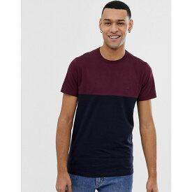 フレンチコネクション French Connection メンズ トップス Tシャツ【block stripe t-shirt】Chateaux/marine
