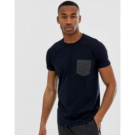 フレンチコネクション French Connection メンズ トップス Tシャツ【contrast pocket t-shirt】Marine/charcoal mel