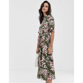 フレンチコネクション French Connection レディース ワンピース・ドレス ワンピース【floral shirt midi dress】Cactus multi
