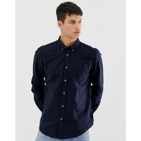 フレンチコネクション French Connection メンズ トップス シャツ【slim fit long sleeve linen shirt】Navy