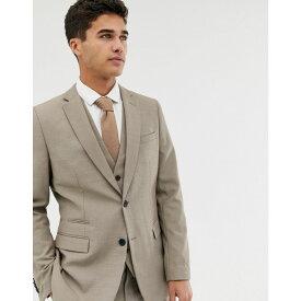 フレンチコネクション French Connection メンズ アウター スーツ・ジャケット【slim fit plain suit jacket】Brown
