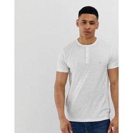 フレンチコネクション French Connection メンズ トップス Tシャツ【grandad collar t-shirt】White