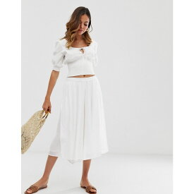 フレンチコネクション French Connection レディース ボトムス・パンツ【cheesecloth poolside wide leg culottes】Summer white