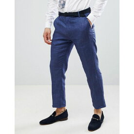 ベネトン メンズ ボトムス・パンツ スラックス【United Colors Of Benetton Wedding Regular Fit Linen Suit Trousers In Blue】Blue