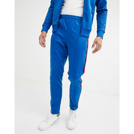 ベネトン United Colors of Benetton メンズ ボトムス・パンツ ジョガーパンツ【United Colors Of Benetton track pants with taping in blue】Blue