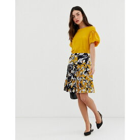 フレンチコネクション French Connection レディース スカート【Aventine floral print pleated skirt】Calluna yellow multi