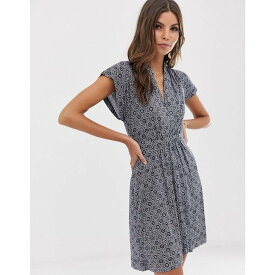 フレンチコネクション French Connection レディース ワンピース・ドレス ワンピース【Medina tile print dress】Utility bl/ sun wht