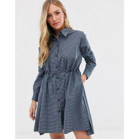 フレンチコネクション French Connection レディース ワンピース・ドレス ワンピース【check draw string shirt dress】Blue/white