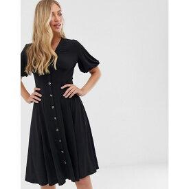 フレンチコネクション French Connection レディース ワンピース・ドレス ワンピース【button through midi dress】Black