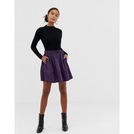ミニマム Minimum レディース スカート ひざ丈スカート【Moves By a-line skirt】Purple potion