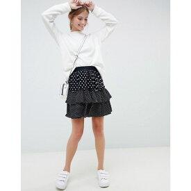 ミニマム Minimum レディース スカート【Moves By polka dot skirt】Black