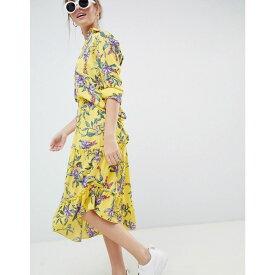 ミニマム Minimum レディース スカート ミニスカート【Moves By asymmetric hem floral skirt】Aspen gold