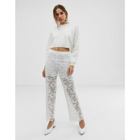 ミニマム Minimum レディース ボトムス・パンツ【Moves By lace trousers】White