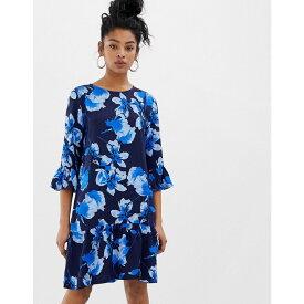 ミニマム Minimum レディース ワンピース・ドレス ワンピース【floral peplum hem dress】Dress blue