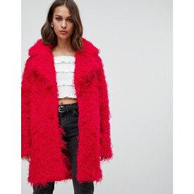 ミニマム Minimum レディース アウター コート【teddy bear coat】Rose red
