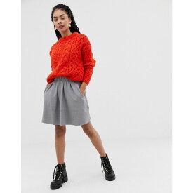 ミニマム Minimum レディース スカート ひざ丈スカート【Moves By skater skirt】Grey melange