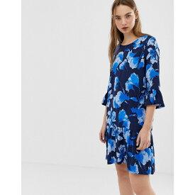 ミニマム Minimum レディース ワンピース・ドレス ワンピース【floral dress with fluted sleeves】Dress blue
