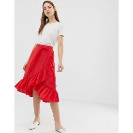 ミニマム Minimum レディース スカート【ruffle wrap skirt】True red
