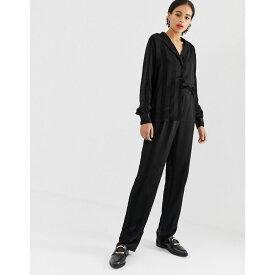 ミニマム Minimum レディース ボトムス・パンツ【jacquard stripe trousers】Black